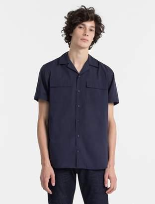 Calvin Klein slim fit cotton silk poplin shirt
