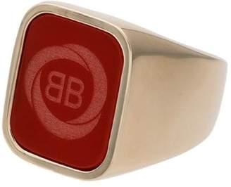 red square logo ring
