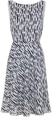 Abigail London Silk Printed Charlotte Dress With Backless Detail