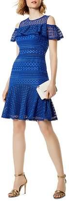 Karen Millen Cold-Shoulder Lace Dress