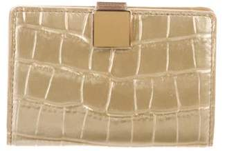 Smythson Embossed Leather Wallet