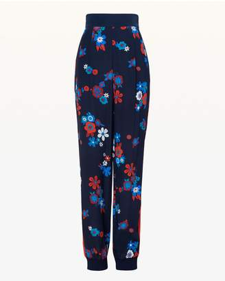 Juicy Couture Hayworth Floral Silk Slim Pant