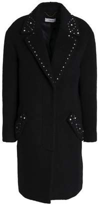 Coach Studded Brushed Wool-Blend Coat