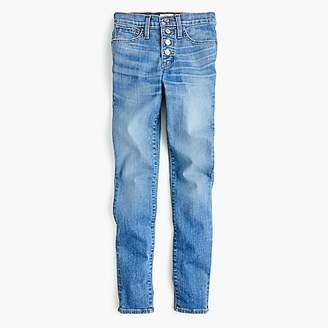 """J.Crew Tall 9"""" high-rise toothpick jean with exposed buttons"""