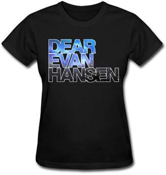 WilliamBurton Dear Evan Hansen Cotton Women's Youth Girls Cute T Shirt Tops XL