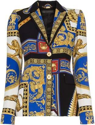 Versace baroque printed blazer