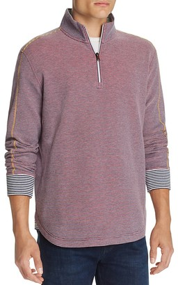 Robert Graham Poole Stripe Half-Zip Pullover $198 thestylecure.com