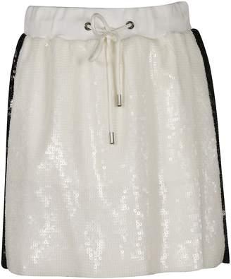 Alberta Ferretti Side Stripe Sequin Mini Skirt