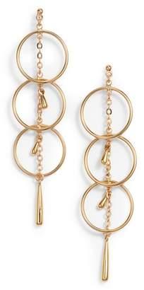 Rebecca Minkoff Triple Ring Drop Earrings