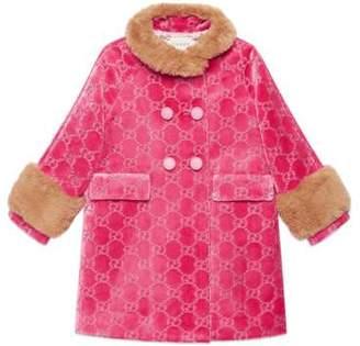 Gucci Children's GG velvet coat
