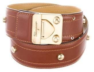 Salvatore Ferragamo Leather Embellished Waist Belt