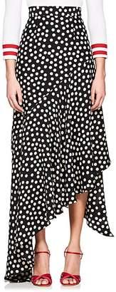 Juan Carlos Obando Women's Polka Dot Silk Asymmetric Skirt