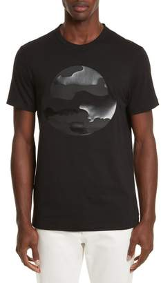 Moncler Black Silhouette Graphic T-Shirt