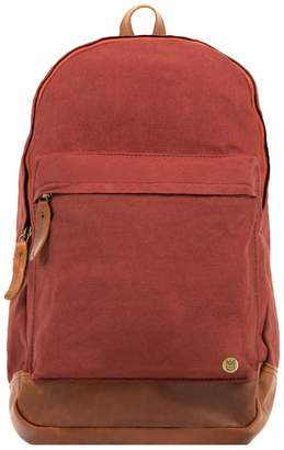 MAHI Leather - Leather Canvas Classic Backpack Rucksack In Red