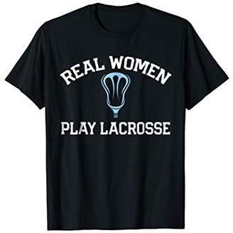 LaCrosse Real Women Play T-Shirt Female Sports Tee