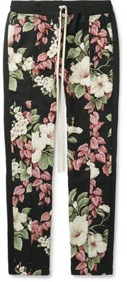 Fear Of God Floral-Print Textured-Cotton Drawstring Trousers