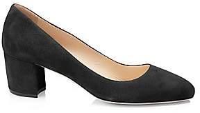 Prada Women's Block-Heel Suede Pumps