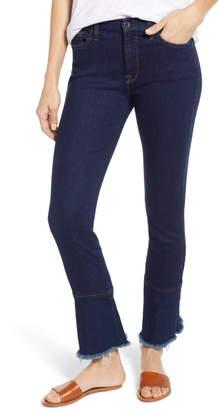 b0143fcdca0 7 For All Mankind JEN7 by Ruffle Hem Skinny Ankle Jeans