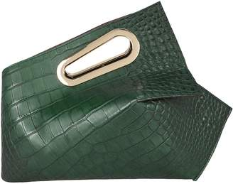 Khaore Athaarah Croc-Embossed Leather Clutch