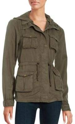 Lord & Taylor Design Lab Hooded Utility Jacket