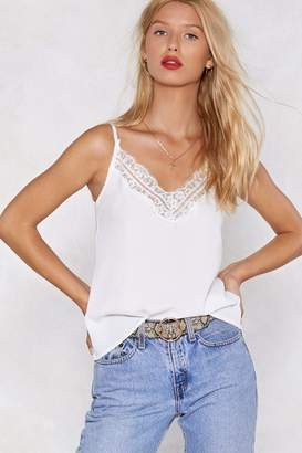 Nasty Gal Say It to My Lace Cami Top