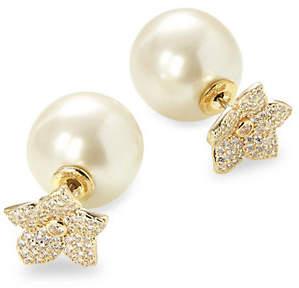 Kate Spade Blooming Reversible Floral Crystal and Faux Pearl Stud Earrings