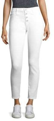 AG Adriano Goldschmied Farrah High-Rise Button-Fly Ankle Skinny Jeans