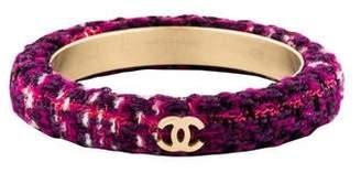 Chanel CC Tweed Bangle