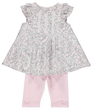 George Floral Dress and Leggings Outfit