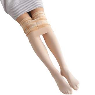 1f5c19c241d19 Weigou Winter Women Leggings Winter Leggings Warm Stretch Brushed Fleece  Lined Thick Leggings Tights for Women