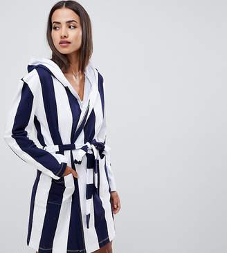 Asos DESIGN stripe cotton robe