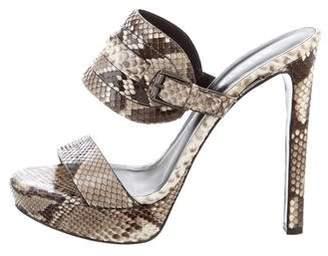Belstaff Snakeskin Slide Sandals