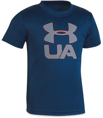 Under Armour Boys' Printed Performance Tee - Little Kid