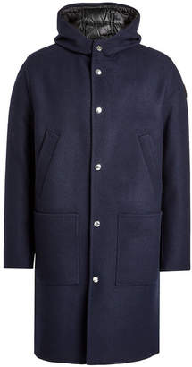 Moncler Callao Virgin Wool Coat with Detachable Down-Filled Lining