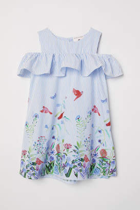 H&M Printed Cotton Dress - Blue