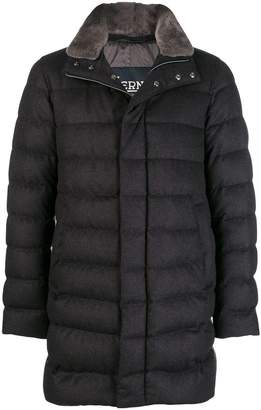 Herno fur-trimmed padded coat