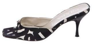 Prada Printed Mid-Heel Sandals