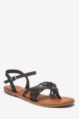 42e4970de7ce Next Womens Toms Black Toe Post Sandal
