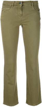 Incotex cropped flared jeans
