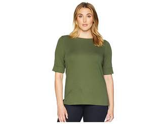 Lauren Ralph Lauren Plus Size Cotton Boat Neck Top