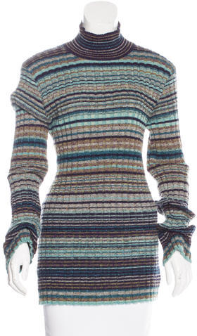 Missoni Missoni Striped Turtleneck Sweater