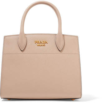 Prada Bibliothèque Small Textured-leather Tote - Taupe