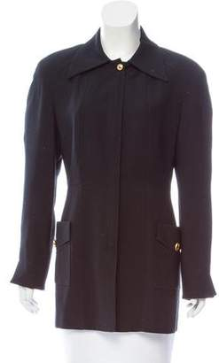 Christian Dior Structured Zip-Up Coat