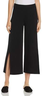 Eileen Fisher Slit Wide-Leg Crop Pants - 100% Exclusive