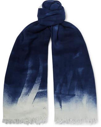 Massimo Alba Fringed Dégradé Wool And Silk-Blend Scarf