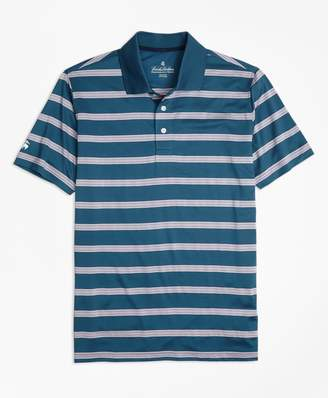 Brooks Brothers Performance Series Bird's-Eye Stripe Polo Shirt