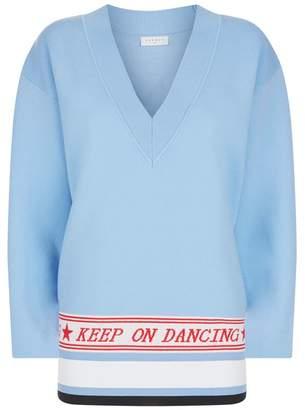 Sandro Keep On Dancing Slogan Sweater
