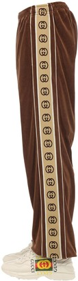 Gucci Cotton Blend Pants W/ Logo Tape