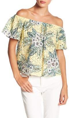 BB Dakota Off-the-Shoulder Floral Print Blouse