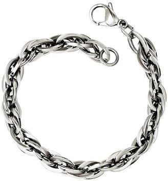 "Steel By Design Stainless Steel 8"" Oval Interlocking Link Bracelet"